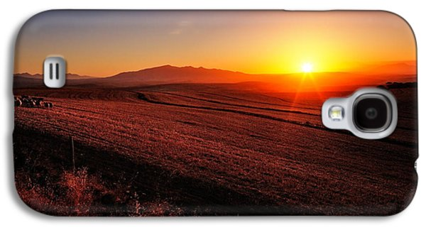 Peaceful Scene Galaxy S4 Cases - Golden Sunrise over Farmland Galaxy S4 Case by Johan Swanepoel