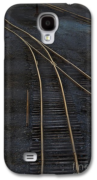 Train Photographs Galaxy S4 Cases - Golden Tracks Galaxy S4 Case by Margie Hurwich