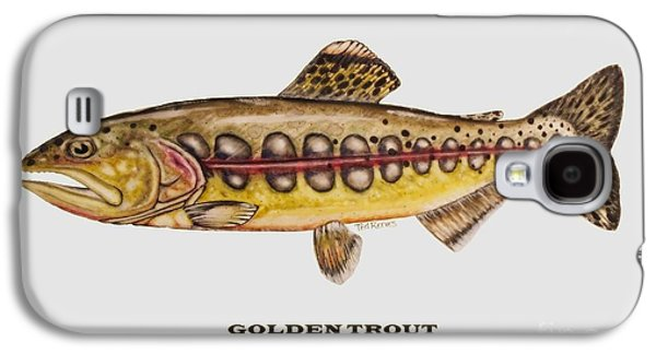 Golden Fish Paintings Galaxy S4 Cases - Golden Trout Galaxy S4 Case by Ted Reeves