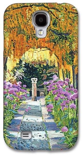 Gardenscapes Galaxy S4 Cases - Golden Walk Galaxy S4 Case by David Lloyd Glover