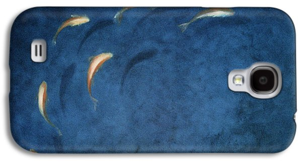 Fish Pond Galaxy S4 Cases - Goldfish Pool Galaxy S4 Case by Lincoln Seligman