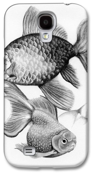 Drawing Galaxy S4 Cases - Goldfish Galaxy S4 Case by Sarah Batalka