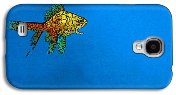 Goldfish Study 4 - Stone Rock'd Art By Sharon Cummings Galaxy S4 Case by Sharon Cummings