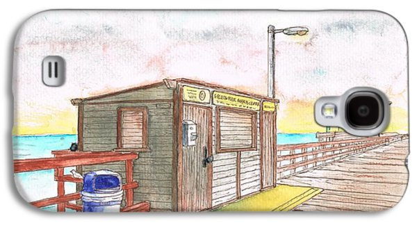 Nature Center Paintings Galaxy S4 Cases - Goleta Pier Angler Center - Goleta Beach - California Galaxy S4 Case by Carlos G Groppa