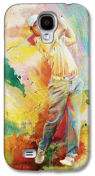 The Tiger Paintings Galaxy S4 Cases - Golf Action 01 Galaxy S4 Case by Catf