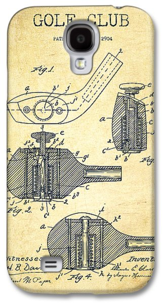 Invention Galaxy S4 Cases - Golf Clubs Patent Drawing From 1904 - Vintage Galaxy S4 Case by Aged Pixel