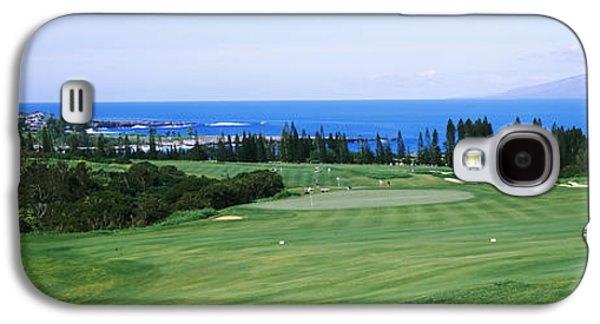 Golf Course At The Oceanside, Kapalua Galaxy S4 Case by Panoramic Images