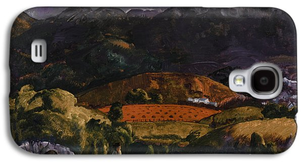 Mountainous Paintings Galaxy S4 Cases - Golf Course Galaxy S4 Case by George Wesley Bellows