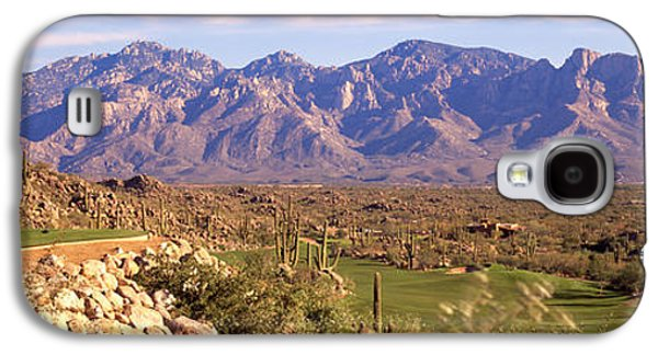 Sports Photographs Galaxy S4 Cases - Golf Course Tucson Az Galaxy S4 Case by Panoramic Images