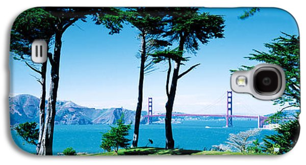 Boats In Water Galaxy S4 Cases - Golf Course W\ Golden Gate Bridge San Galaxy S4 Case by Panoramic Images