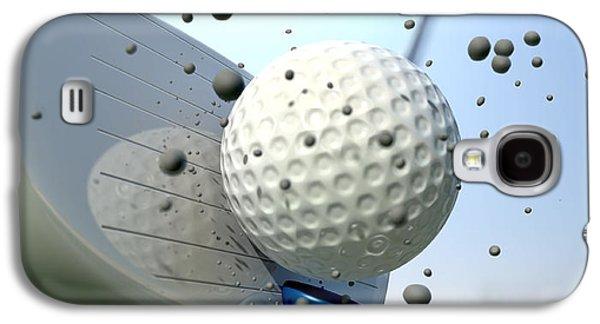 Hit Galaxy S4 Cases - Golf Impact Galaxy S4 Case by Allan Swart