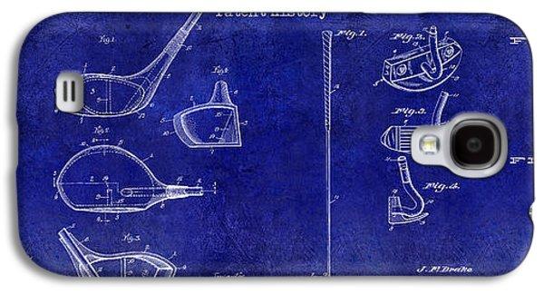 Golf Club Photographs Galaxy S4 Cases - Golf Patent History Drawing Blue Galaxy S4 Case by Jon Neidert
