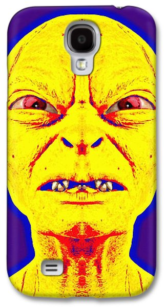Character Portraits Mixed Media Galaxy S4 Cases - Gollum alias in The Lord of the Rings The Two Towers Galaxy S4 Case by Art Cinema Gallery