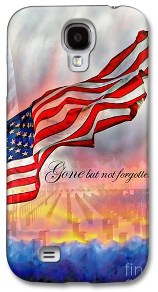 4th July Galaxy S4 Cases - Gone But Not Forgotten Military Memorial Galaxy S4 Case by Barbara Chichester