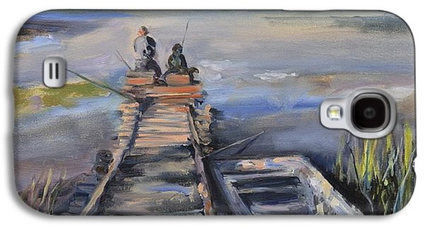Person Galaxy S4 Cases - Gone Fishin Galaxy S4 Case by Donna Tuten