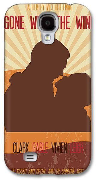 Wind Galaxy S4 Cases - Gone With The Wind Poster Art Galaxy S4 Case by Florian Rodarte