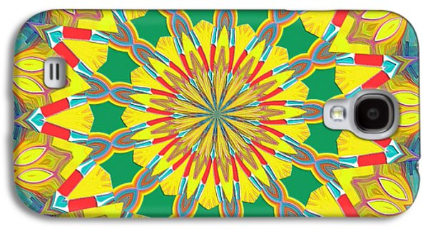 Colorful Abstract Galaxy S4 Cases - Good Day Sunshine Kaleidoscope Galaxy S4 Case by Alec Drake