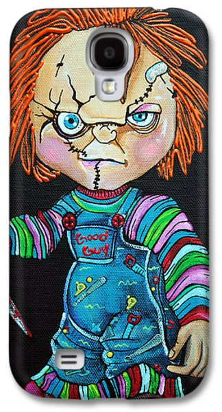 Creepy Paintings Galaxy S4 Cases - Good Guy Doll Galaxy S4 Case by Laura Barbosa