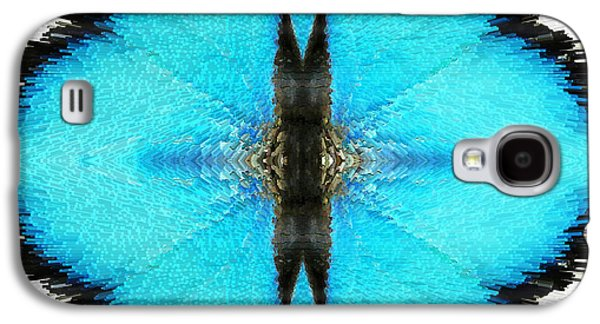 Abstract Digital Art Galaxy S4 Cases - Good Karma - Art by Sharon Cummings Galaxy S4 Case by Sharon Cummings