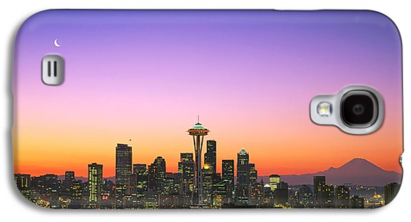 City Scene Galaxy S4 Cases - Good Morning America. Galaxy S4 Case by King Wu