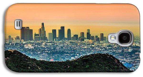 Symmetrical Galaxy S4 Cases - Good Morning LA Galaxy S4 Case by Az Jackson