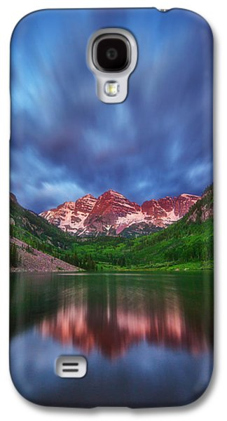 Landscape Acrylic Prints Galaxy S4 Cases - Good Morning Maroon Galaxy S4 Case by Darren  White