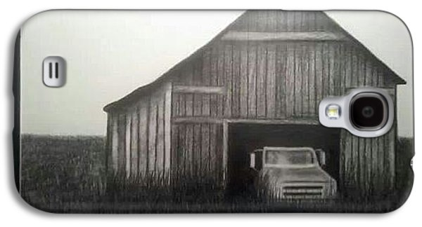 Old Barn Drawing Drawings Galaxy S4 Cases - Good Ole Days Galaxy S4 Case by Kimberly Matherly