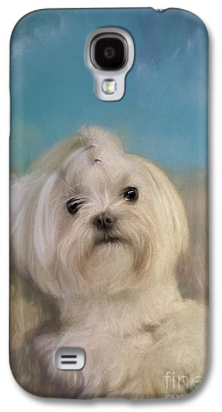 Puppy Digital Art Galaxy S4 Cases - Good Things Come In Small Packages Galaxy S4 Case by Lois Bryan
