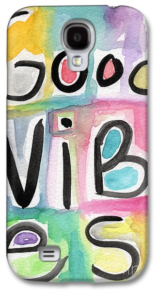 Pop Mixed Media Galaxy S4 Cases - Good Vibes Galaxy S4 Case by Linda Woods