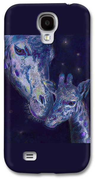 Giraffe Digital Galaxy S4 Cases - Goodnight Giraffes Galaxy S4 Case by Jane Schnetlage