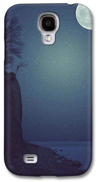 Ocean Landscape Galaxy S4 Cases - Goodnight Moon Galaxy S4 Case by Carrie Ann Grippo-Pike