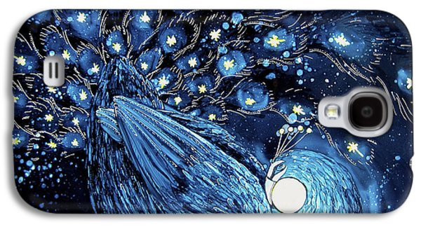 Constellations Paintings Galaxy S4 Cases - Goodnight Peacock Galaxy S4 Case by Wendy Wilkins