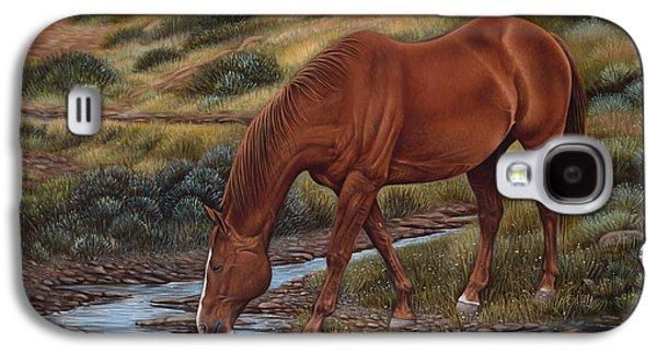 Quarter Horses Galaxy S4 Cases - GoodOl Red Galaxy S4 Case by Ricardo Chavez-Mendez