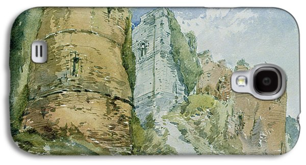 Building Drawings Galaxy S4 Cases - Goodrich Castle Galaxy S4 Case by William Callow