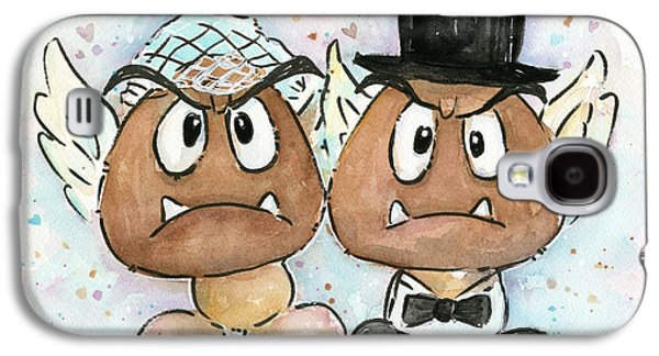 Groom Galaxy S4 Cases - Goomba Bride and Groom Galaxy S4 Case by Olga Shvartsur