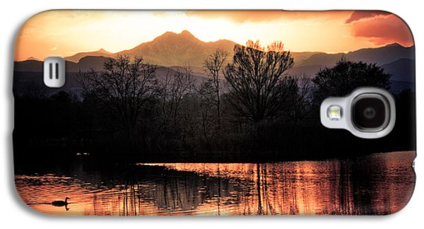 Sunset Greeting Cards Galaxy S4 Cases - Goose On Golden Ponds 1 Galaxy S4 Case by James BO  Insogna
