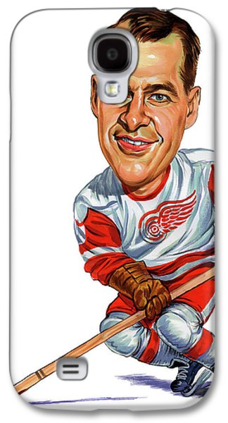 Person Galaxy S4 Cases - Gordie Howe Galaxy S4 Case by Art