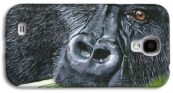 Photorealistic Galaxy S4 Cases - Gorilla Galaxy S4 Case by Lovejoy Creations