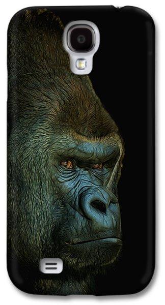 Gorilla Digital Galaxy S4 Cases - Gorilla Portrait Digital Art Galaxy S4 Case by Ernie Echols