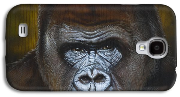 Airbrush Galaxy S4 Cases - Gorilla Galaxy S4 Case by Tim  Scoggins