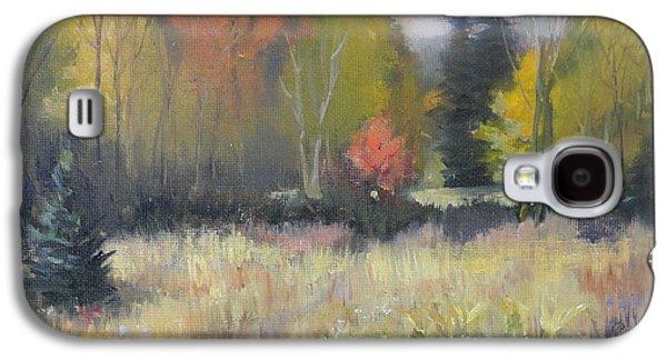 Nature Center Paintings Galaxy S4 Cases - Gorman Prairie Galaxy S4 Case by Judy Fischer Walton