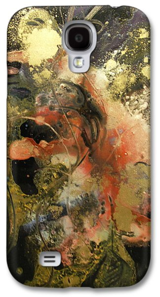 Curvilinear Paintings Galaxy S4 Cases - Gossamer Galaxy S4 Case by Patricia Mayhew Hamm