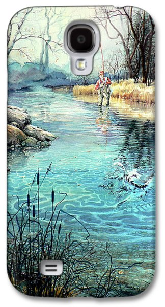 Canadian Sports Paintings Galaxy S4 Cases - Gotcha Galaxy S4 Case by Hanne Lore Koehler