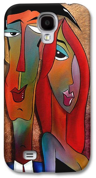 Contemporary Abstract Drawings Galaxy S4 Cases - Gotem Good Galaxy S4 Case by Tom Fedro - Fidostudio