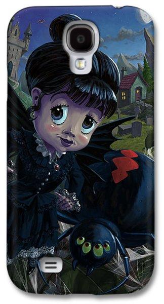 Macabre Digital Galaxy S4 Cases - Goth girl fairy with spider widow Galaxy S4 Case by Martin Davey