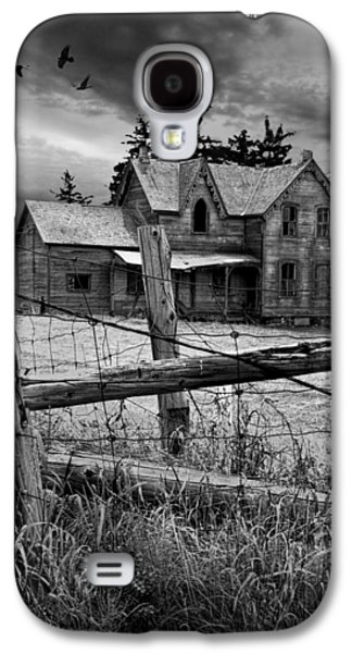 Gothic Abandoned Farm House In Ontario Canada Galaxy S4 Case by Randall Nyhof