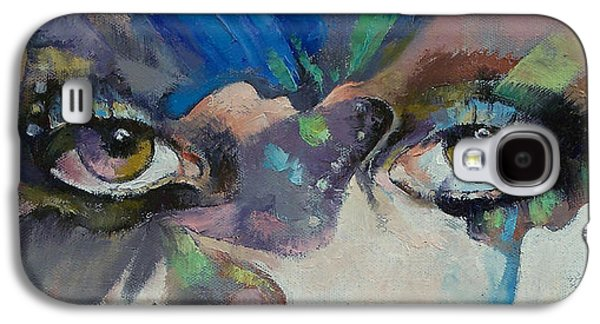 Gothic Paintings Galaxy S4 Cases - Gothic Butterflies Galaxy S4 Case by Michael Creese