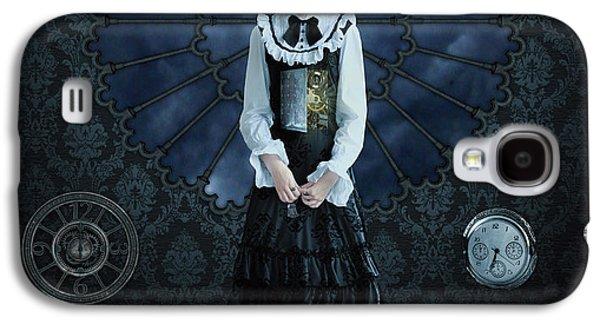 Clock Galaxy S4 Cases - Gothic Girl Galaxy S4 Case by Juli Scalzi