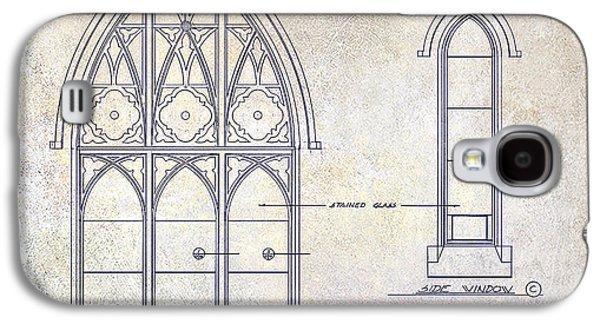 Gothic Galaxy S4 Cases - Gothic Window Detail Galaxy S4 Case by Jon Neidert