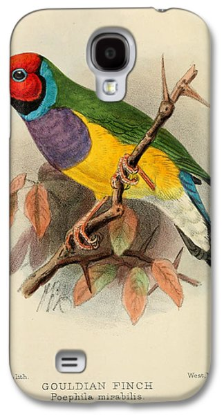 Gouldian Finch Galaxy S4 Case by J G Keulemans